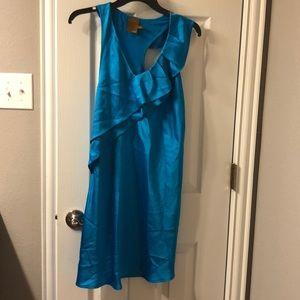 Ali Ro Teal silk Dress